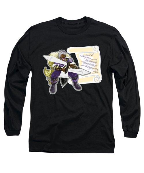 Zechariah 12 Vs.8 The Feeble As David Long Sleeve T-Shirt