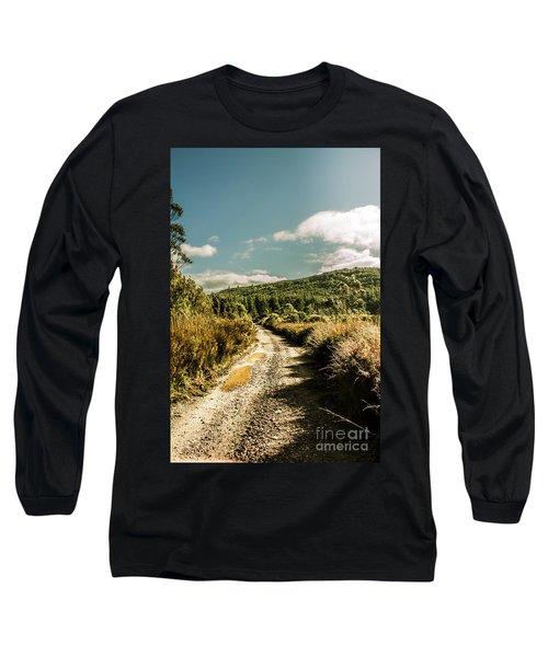 Zeehan Dirt Road Landscape Long Sleeve T-Shirt