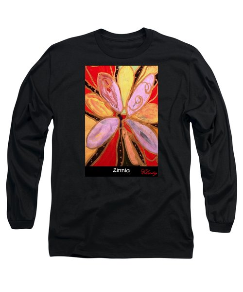 Long Sleeve T-Shirt featuring the painting Zinnia by Clarity Artists