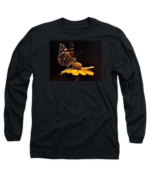 Zinnia Sipping Long Sleeve T-Shirt by Alana Thrower