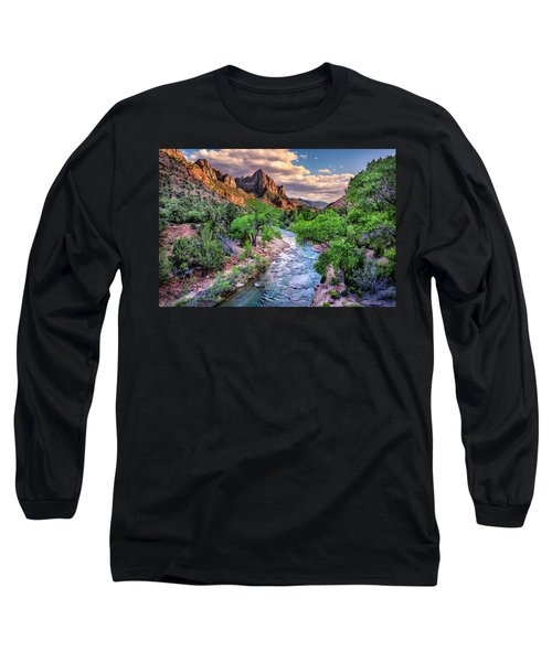 Zion Canyon At Sunset Long Sleeve T-Shirt