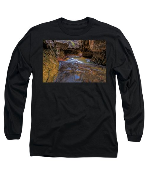 Long Sleeve T-Shirt featuring the photograph Zion Subway by Jonathan Davison