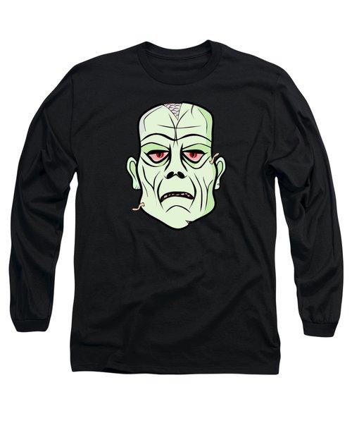 Zombie Head Long Sleeve T-Shirt by Martin Capek