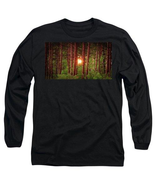 010 - Pine Sunset Long Sleeve T-Shirt