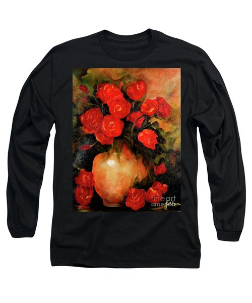 Antique Red Roses Long Sleeve T-Shirt
