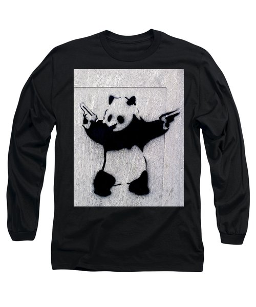 Banksy Panda Long Sleeve T-Shirt
