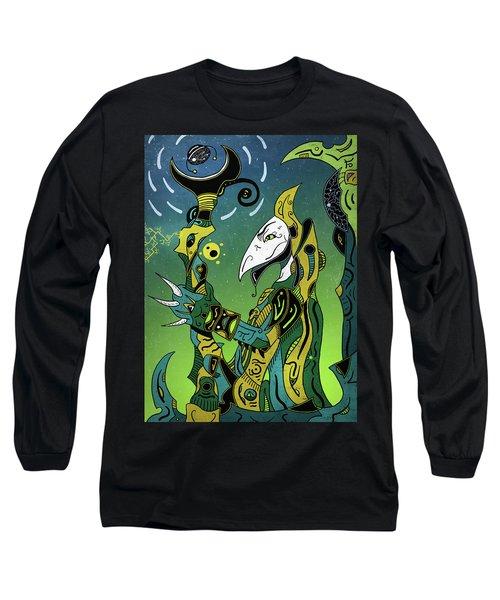 Long Sleeve T-Shirt featuring the digital art Birdman by Sotuland Art