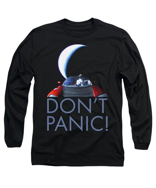Don't Panic Starman Long Sleeve T-Shirt