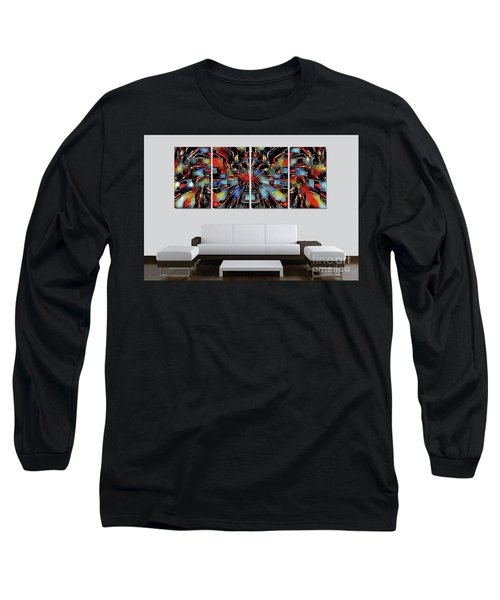Funny Abstract Overlay Long Sleeve T-Shirt