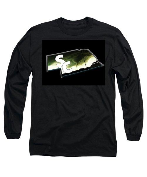 Nebraskasc Logo White Long Sleeve T-Shirt