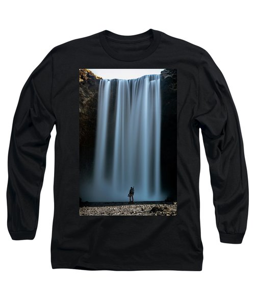 Amongst Giants Skogafoss Iceland Long Sleeve T-Shirt