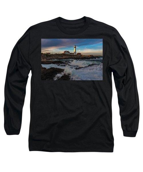 Long Sleeve T-Shirt featuring the photograph Portland Headlight by Rick Hartigan