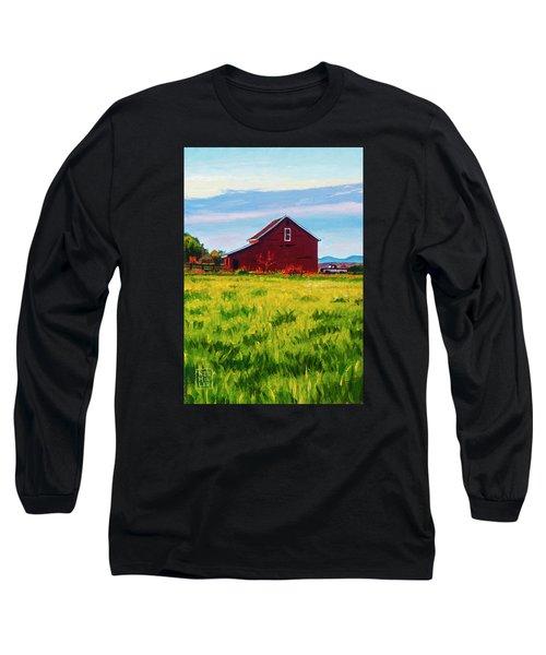 Skagit Valley Barn #4 Long Sleeve T-Shirt