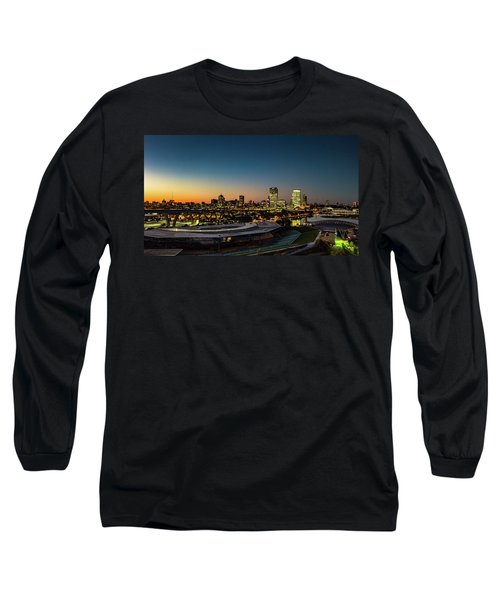 Long Sleeve T-Shirt featuring the photograph Summerfest Sunset by Randy Scherkenbach