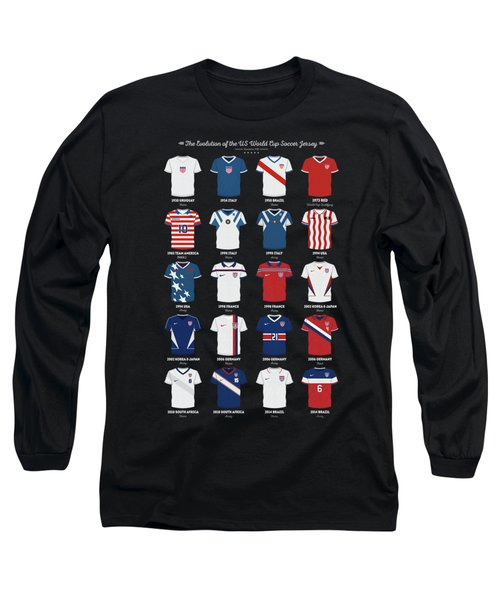 The Evolution Of The Us World Cup Soccer Jersey Long Sleeve T-Shirt