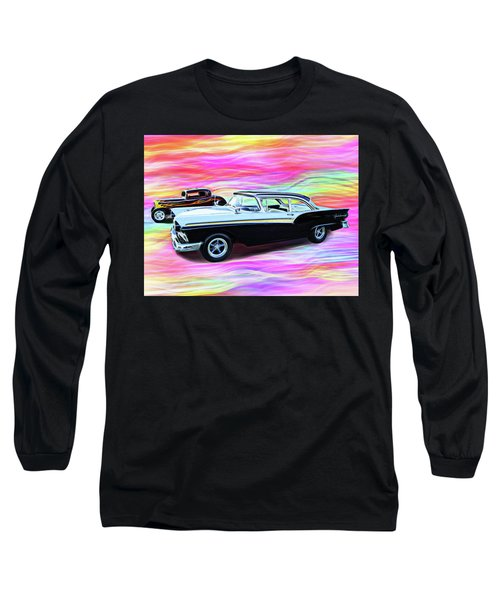 1932 And 1957 Fords Long Sleeve T-Shirt