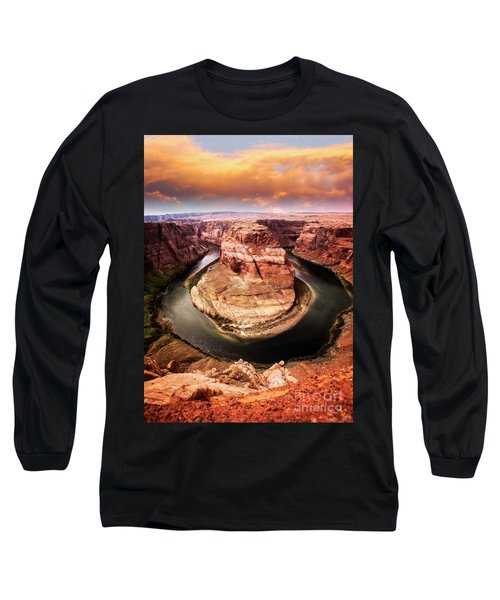 Long Sleeve T-Shirt featuring the photograph River Bend by Scott Kemper
