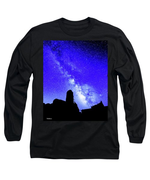 The Milky Way Over The Crest House Long Sleeve T-Shirt