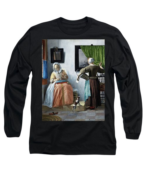 Woman Reading A Letter Long Sleeve T-Shirt