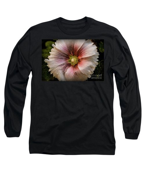 A  Pink Hollyhock Long Sleeve T-Shirt
