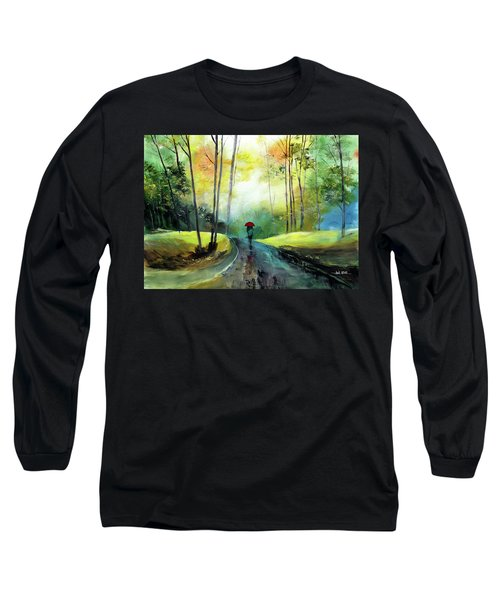 A Walk In The Rain Long Sleeve T-Shirt