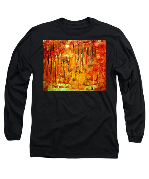 Long Sleeve T-Shirt featuring the painting Ablaze by 'REA' Gallery