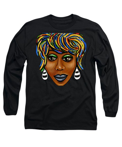 Abstract Glo - Black Woman Retro Pop Art - Ai P. Nilson Long Sleeve T-Shirt