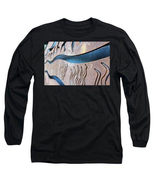 Abstract Lake Patricia Sign 1 Long Sleeve T-Shirt