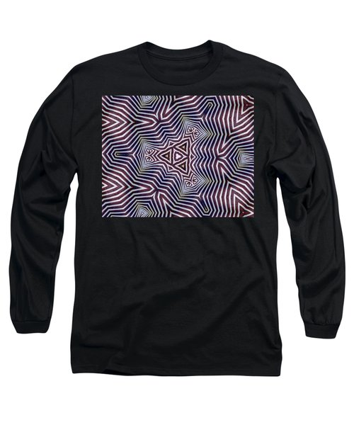 Abstract Zebra Design Long Sleeve T-Shirt