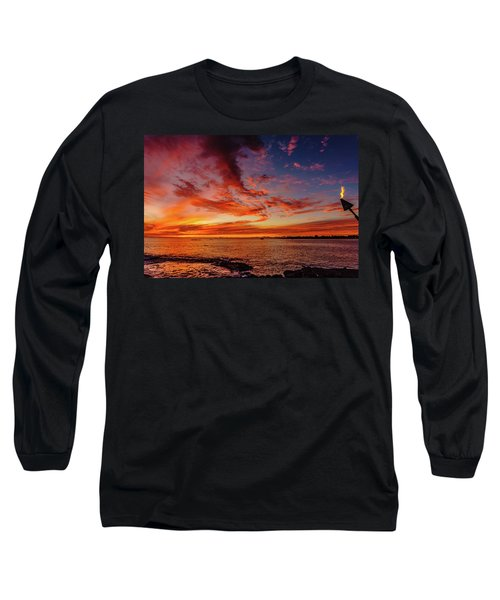 After Sunset Colors At Kailua Bay Long Sleeve T-Shirt