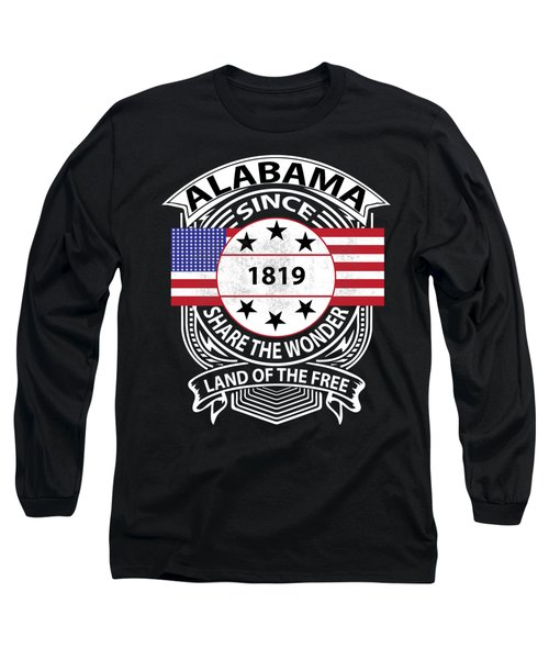 Alabama Grunge Long Sleeve T-Shirt