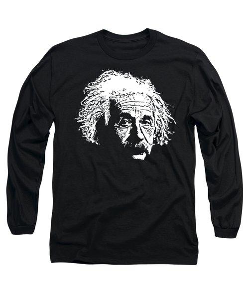 Albert Einstein Minimalistic Pop Art Long Sleeve T-Shirt