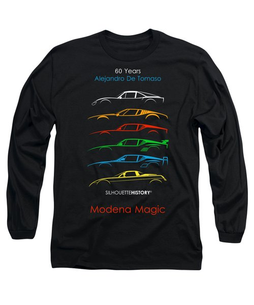 Alejandro's Sports Car 60 Silhouettehistory Long Sleeve T-Shirt