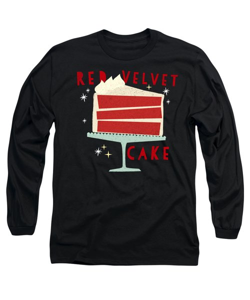 All American Classic Red Velvet Cake Long Sleeve T-Shirt