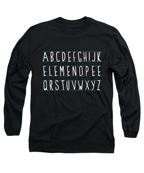 Alphabet Elemeno Long Sleeve T-Shirt