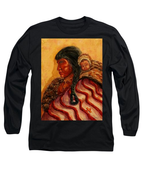 American Indian Mother And Child Long Sleeve T-Shirt