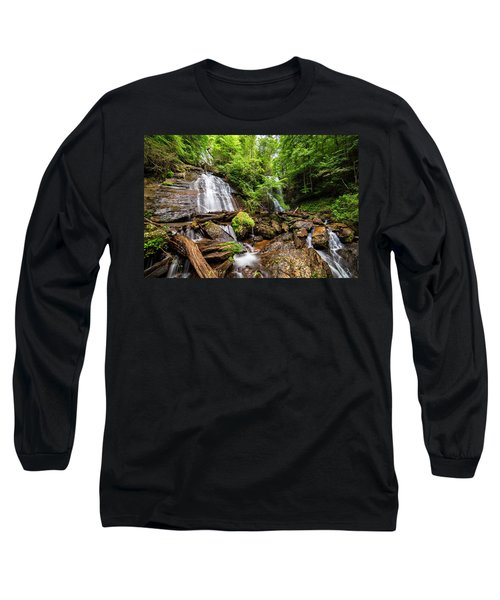 Long Sleeve T-Shirt featuring the photograph Anna Ruby Falls by Andy Crawford