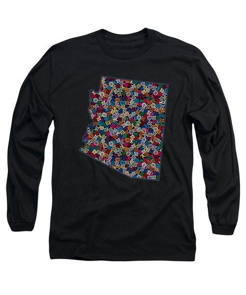 Arizona Map - 2 Long Sleeve T-Shirt