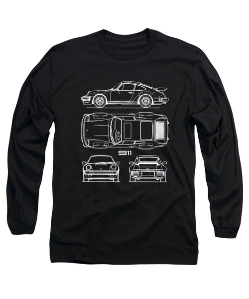 The 911 Turbo Blueprint Long Sleeve T-Shirt