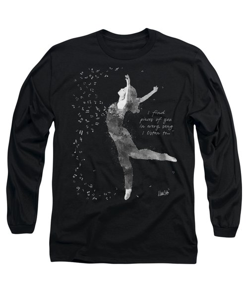 Beloved Deanna Radiating Love And Light In Black And White Long Sleeve T-Shirt