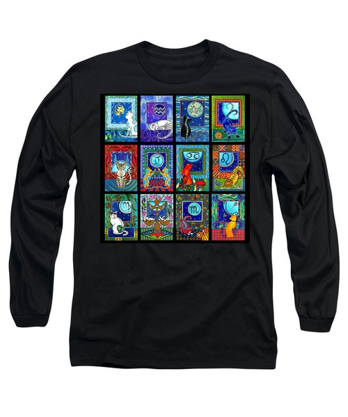 Astrology Cat Zodiacs Long Sleeve T-Shirt