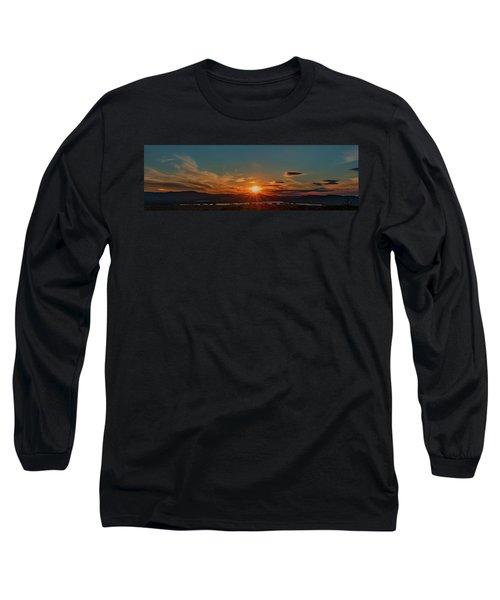 Attean Pond Sunset Long Sleeve T-Shirt