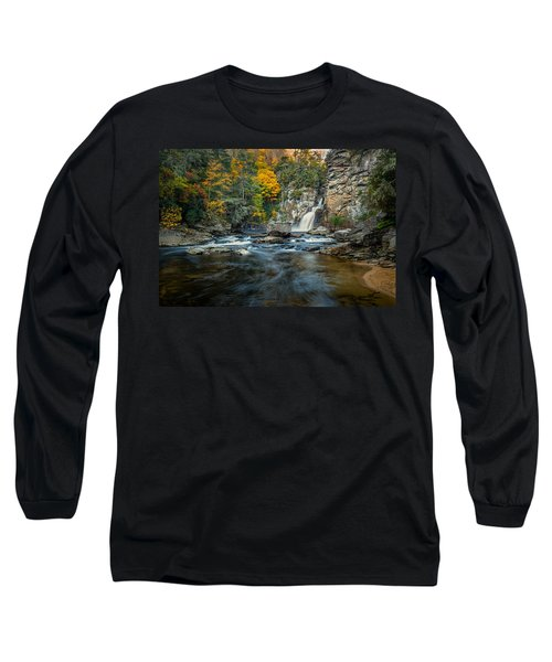 Autumn At Linville Falls - Linville Gorge Blue Ridge Parkway Long Sleeve T-Shirt