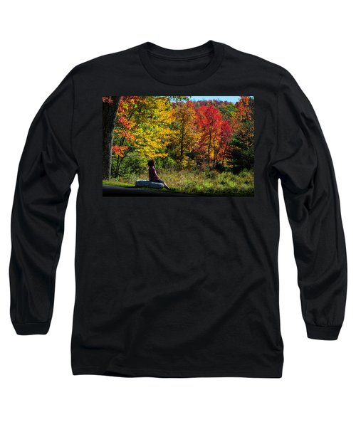 Autumn Leaves In The Catskill Mountains Long Sleeve T-Shirt