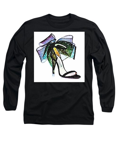 Aveline Bow Sandals Watercolored Long Sleeve T-Shirt
