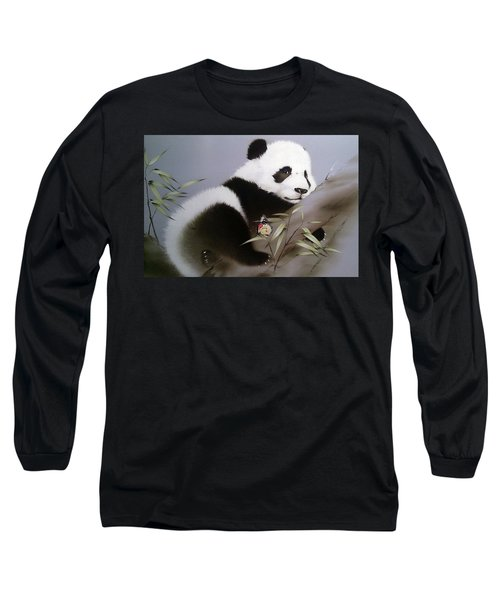 Baby Panda And Butterfly Long Sleeve T-Shirt