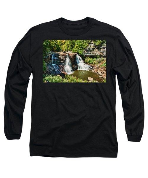 Balckwater Falls - Wide View Long Sleeve T-Shirt