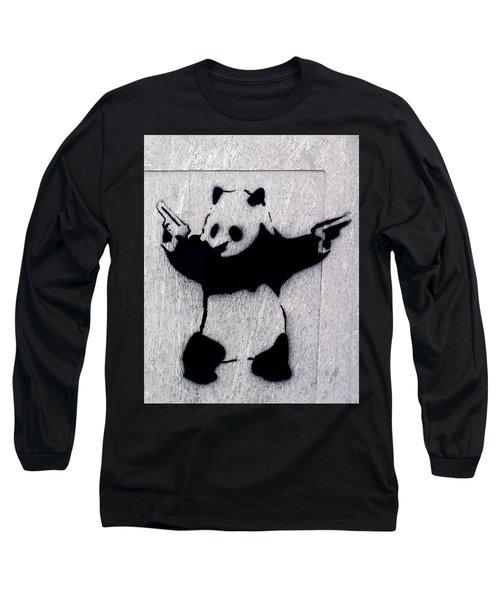 Banksy Panda Long Sleeve T-Shirt