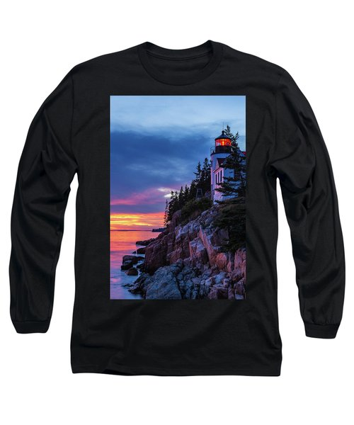 Bass Harbor Head Lighthouse At Twilight Long Sleeve T-Shirt