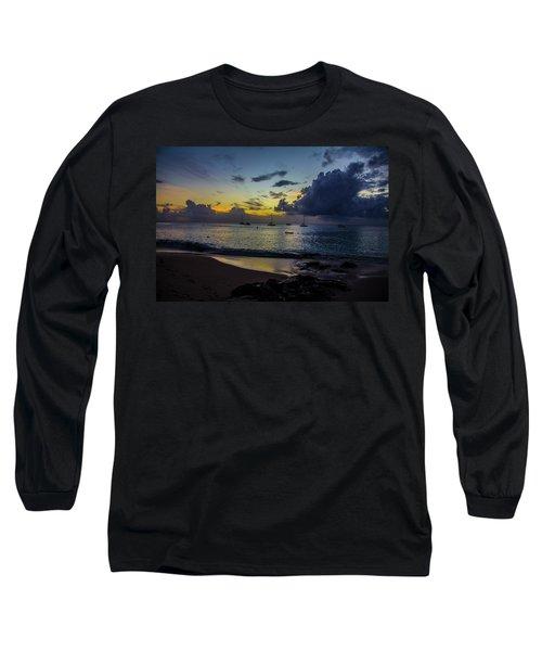 Beach At Sunset 3 Long Sleeve T-Shirt
